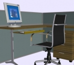 Four kinds computer tables, chairs computer portfolio 3D Model