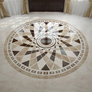 Foyer circular marble floor tiles model 3D Model