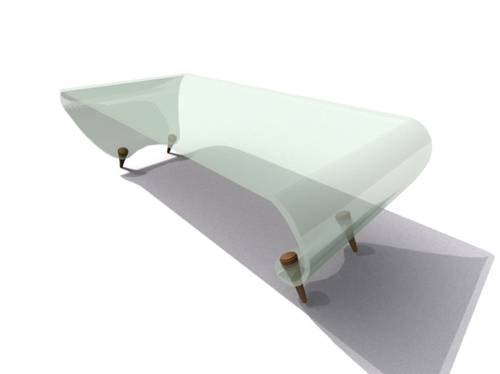 Fresh green glass tea table 3D models