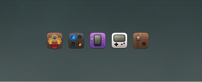 Fun Game Icons PSD