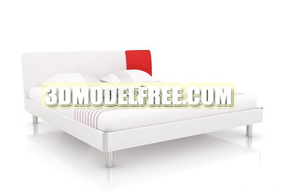 Funiture 3d Max Model: Northern European Double Bed