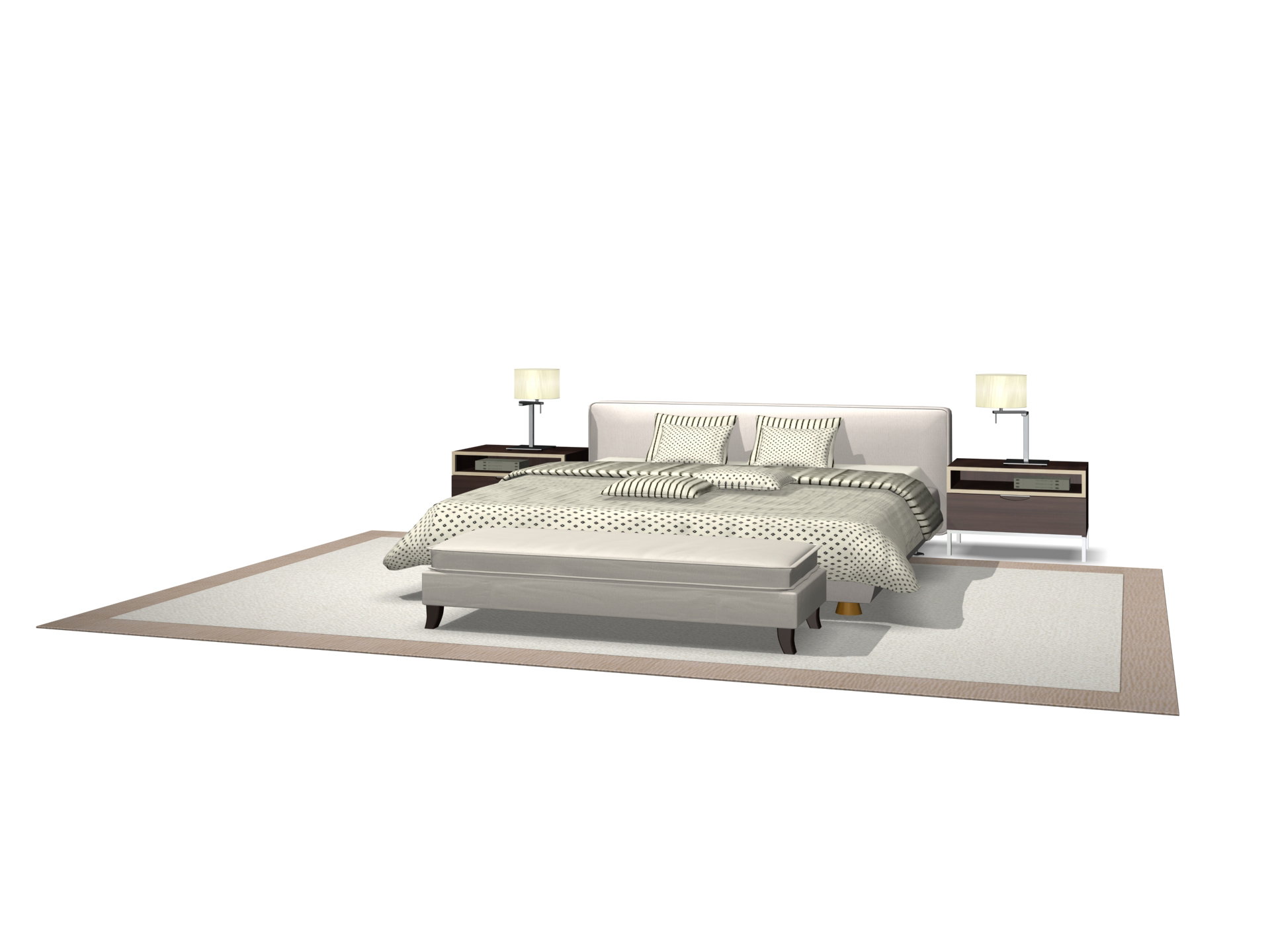 Furniture- 02-bed models 3D Model