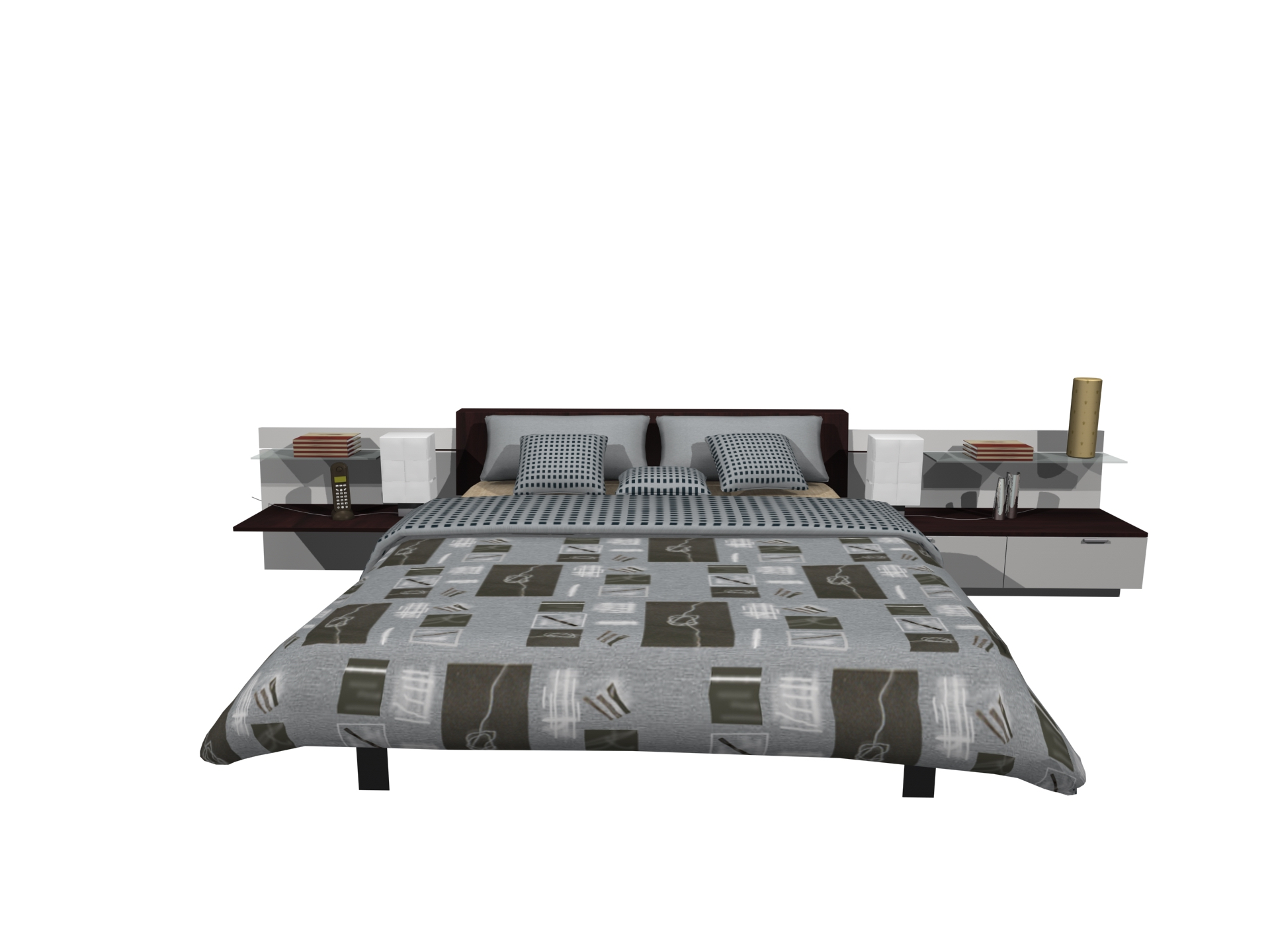 Furniture- 05-bed 3D Model