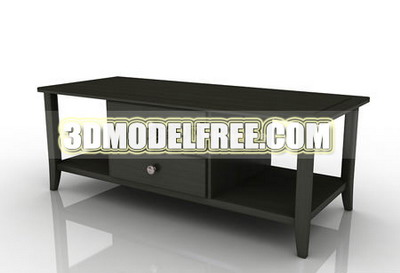 Furniture 3D Model: Dark Color TV Bench 3dmax Model