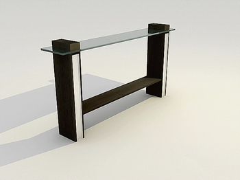 Furniture 3D Model: Glass Book Case