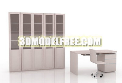 Furniture 3D Model: Study Room Furniture Combination