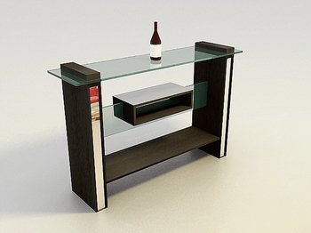Furniture 3D Model: Wine Display Case