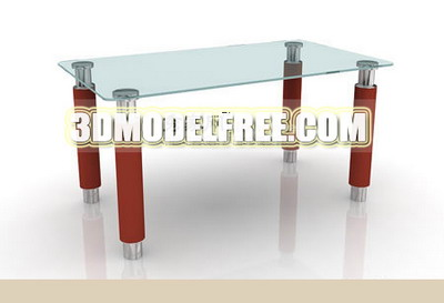 Furniture 3Ds Max Model: Modern Glass Tea Table