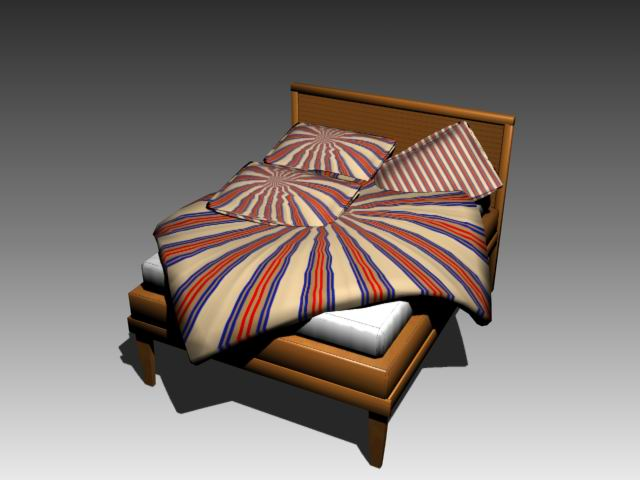 Furniture – beds a003 3D Model