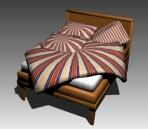 Furniture – beds a003 3D Model