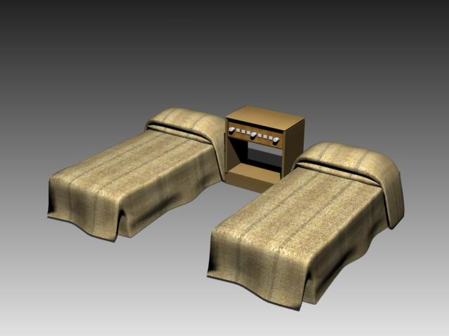 Furniture – beds a005 3D Model