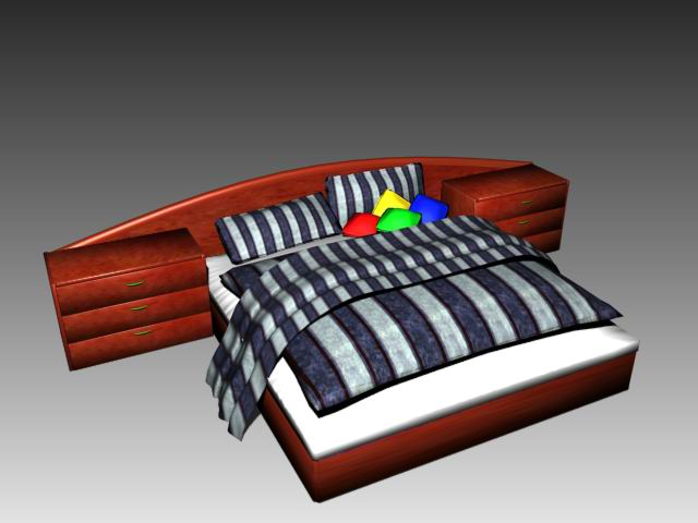 Furniture – beds a008 3D Model