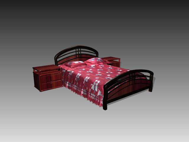 Furniture – beds a012 3D Model
