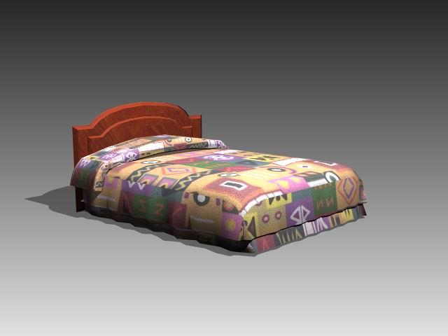 Furniture – beds a016 3D Model