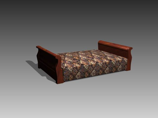 Furniture – beds a017 3D Model