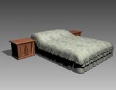Furniture – beds a020 3D Model