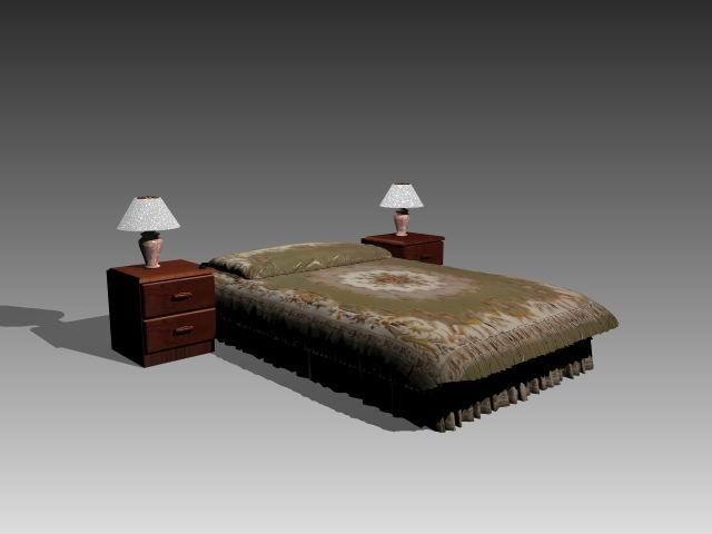 Furniture – beds a021 3D Model