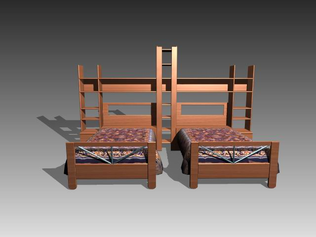 Furniture – beds a022 3D Model