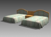Furniture – beds a023 3D Model