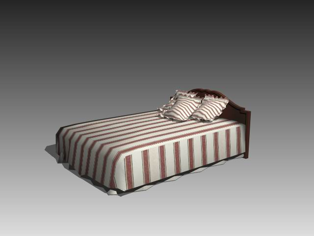 Furniture – beds a025 3D Model