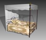 Furniture – beds a031 3D Model