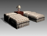 Furniture – beds a033 3D Model