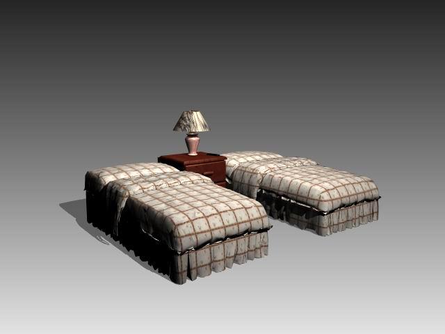 Furniture – beds a033 3D Model