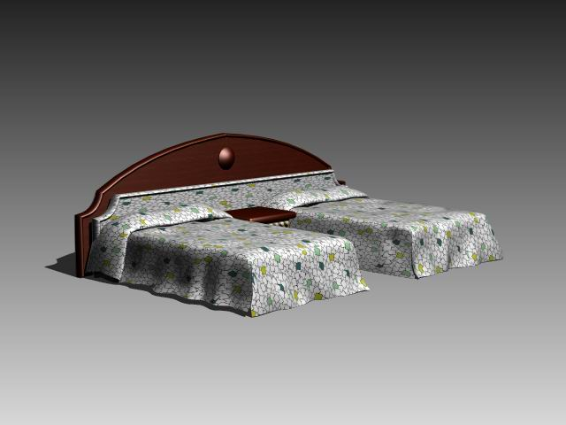 Furniture – beds a035 3D Model