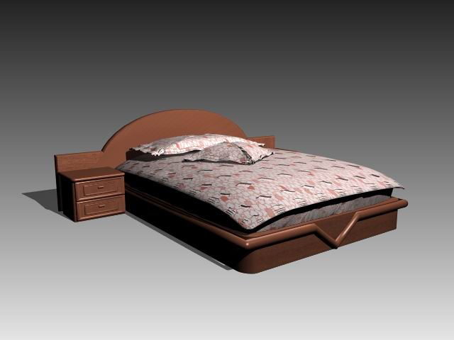 Furniture – beds a038 3D Model
