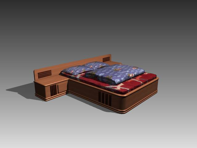 Furniture – beds a040 3D Model