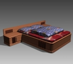 Furniture – beds a041 3D Model
