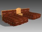 Furniture – beds a042 3D Model