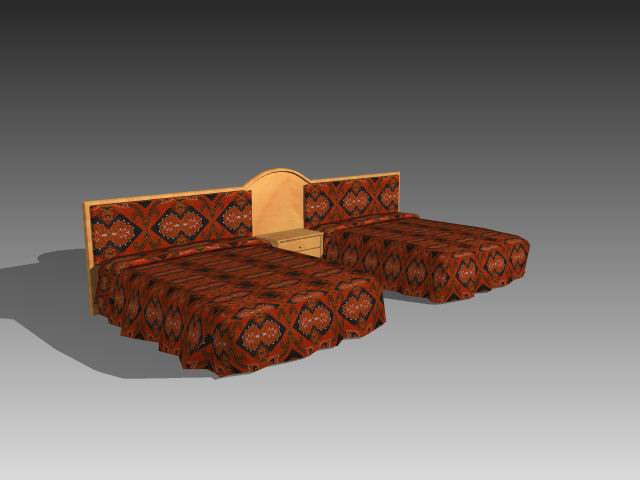 Furniture – beds a042 3D Model