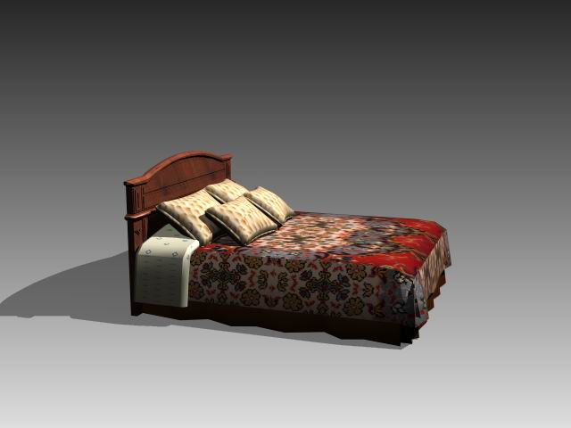 Furniture – beds a043 3D Model