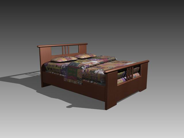 Furniture – beds a045 3D Model