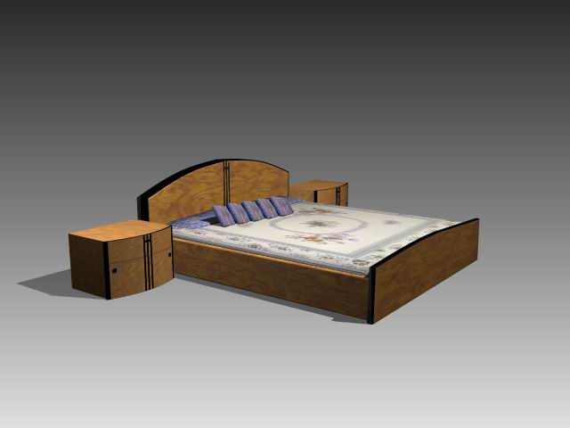 Furniture – beds a048 3D Model