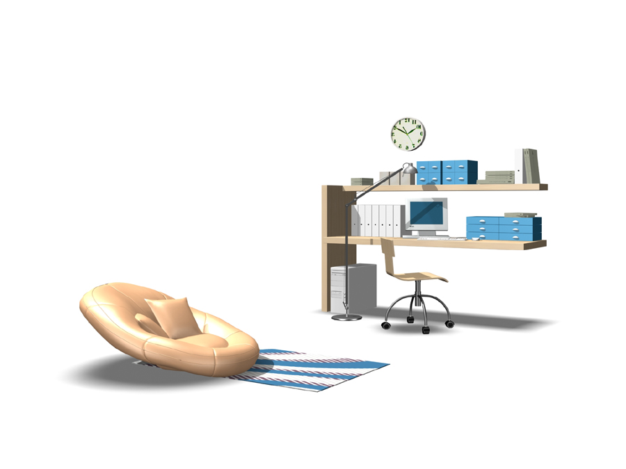Furniture – cabinets 004 – bookshelf 3D Model