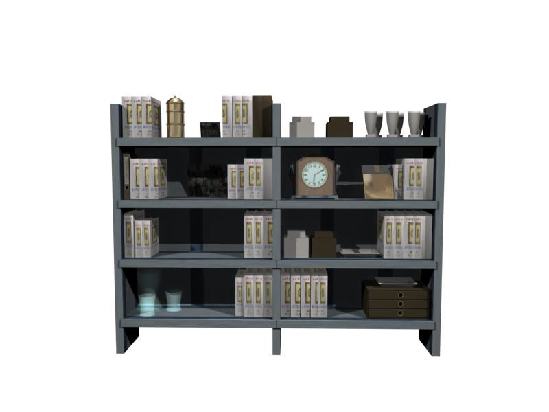 Furniture- cabinets 011 – bookcase 3D Model