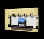 Furniture- cabinets 015 – audio-visual counters 3D Model