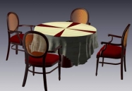 Furniture -chairs a001 3D Model