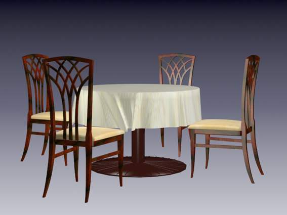 Furniture -chairs a003 3D Model