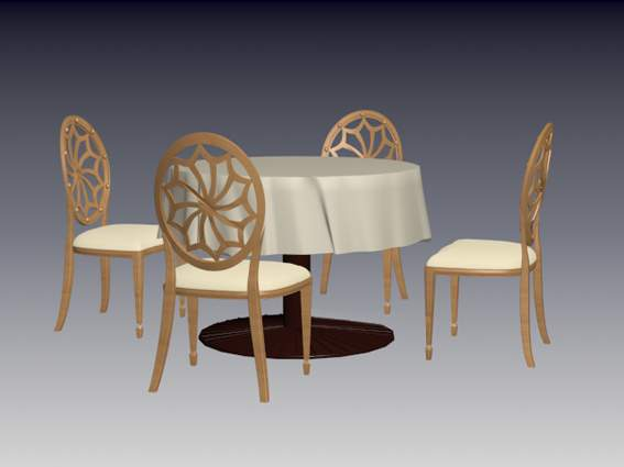 Furniture -chairs a004 3D Model