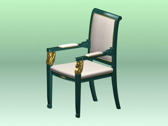Furniture -chairs a011 3D Model