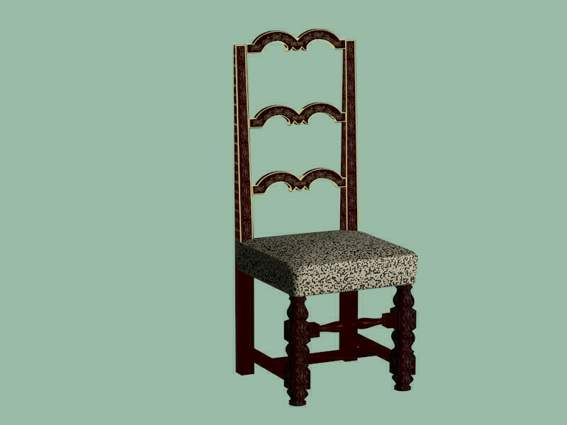 Furniture -chairs a015 3D Model