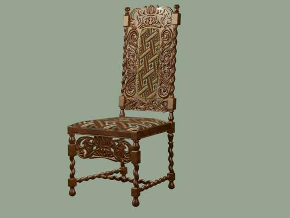 Furniture -chairs a016 3D Model