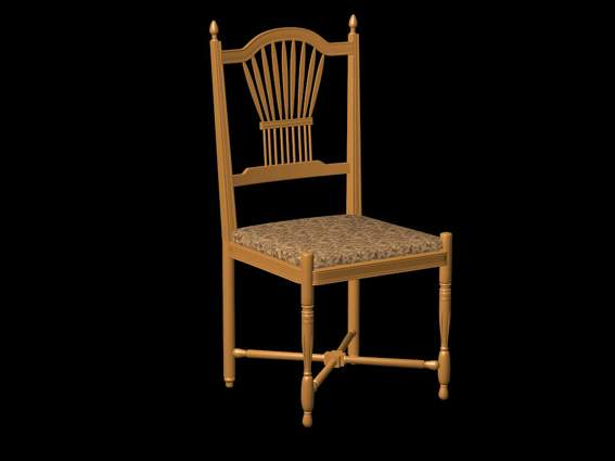 Furniture -chairs a017 3D Model