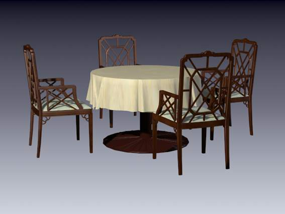 Furniture -chairs  a018 3D Model