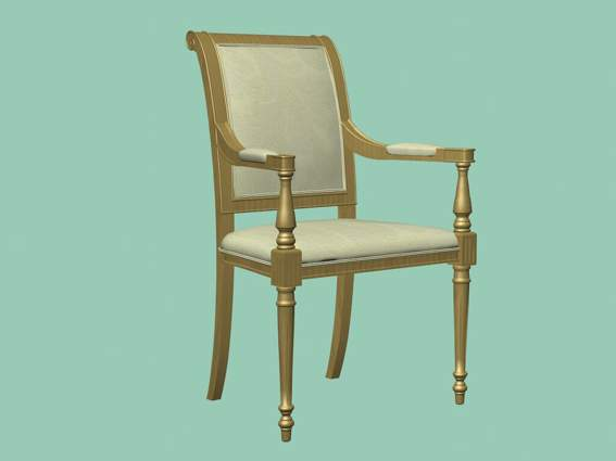 Furniture -chairs a022 3D Model