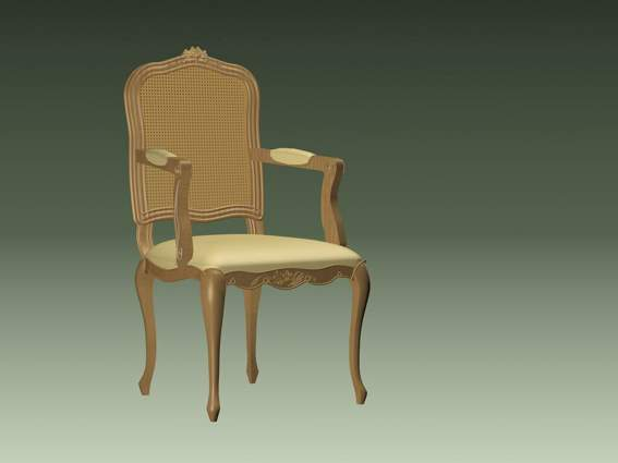 Furniture -chairs a024 3D Model