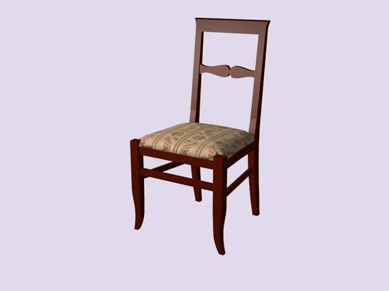 Furniture -chairs a025 3D Model
